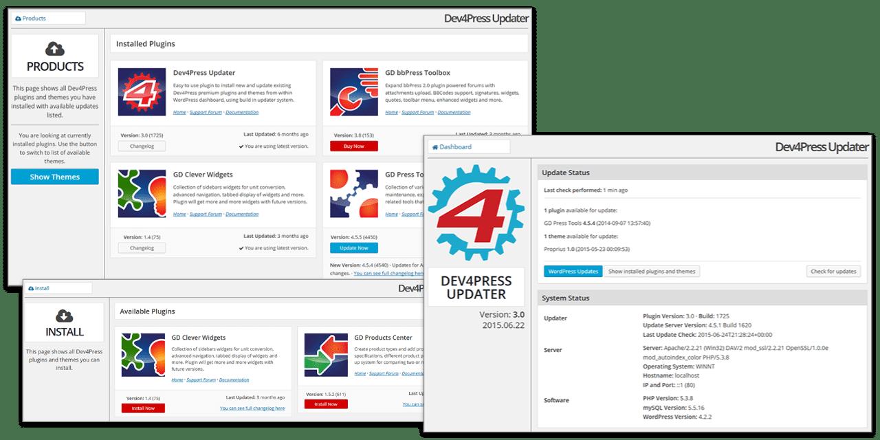 Dev4Press Updater
