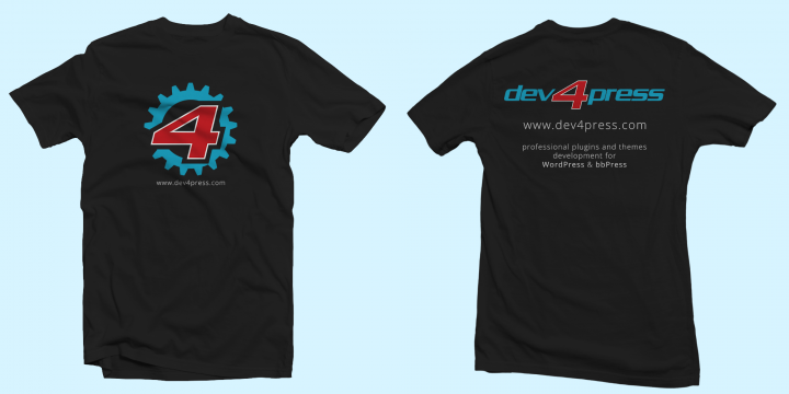 Dev4Press T-Shirt, front and back