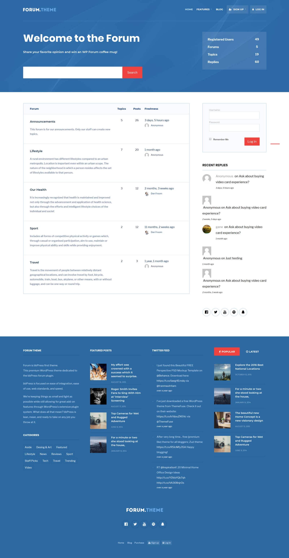 Forum - Website Screenshot