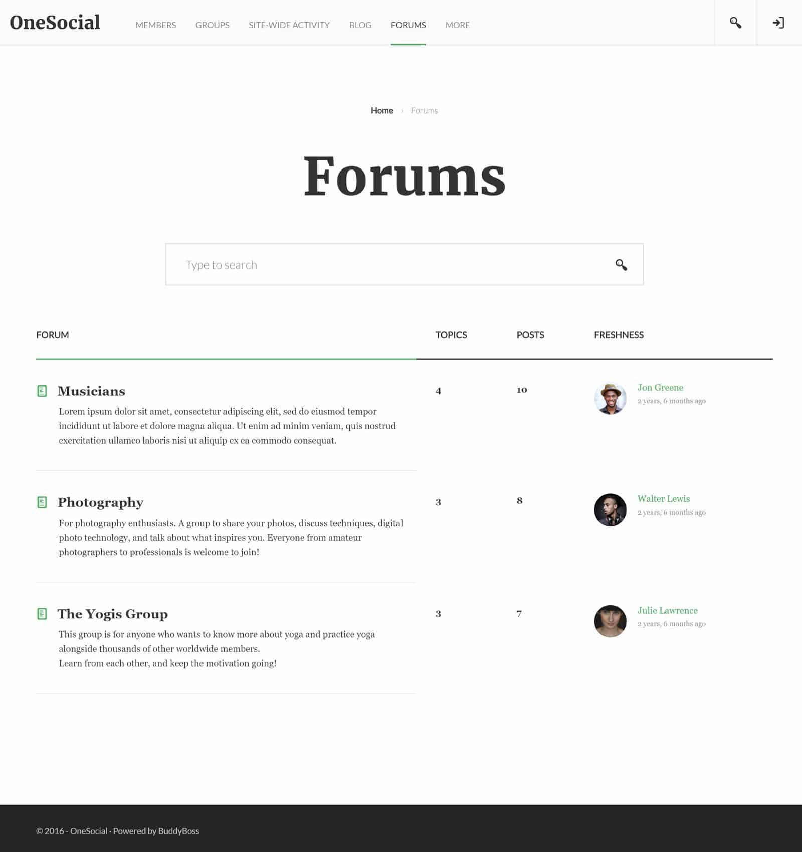 OneSocial - Website Screenshot