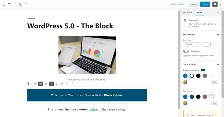Block Editor in WordPress 5.0