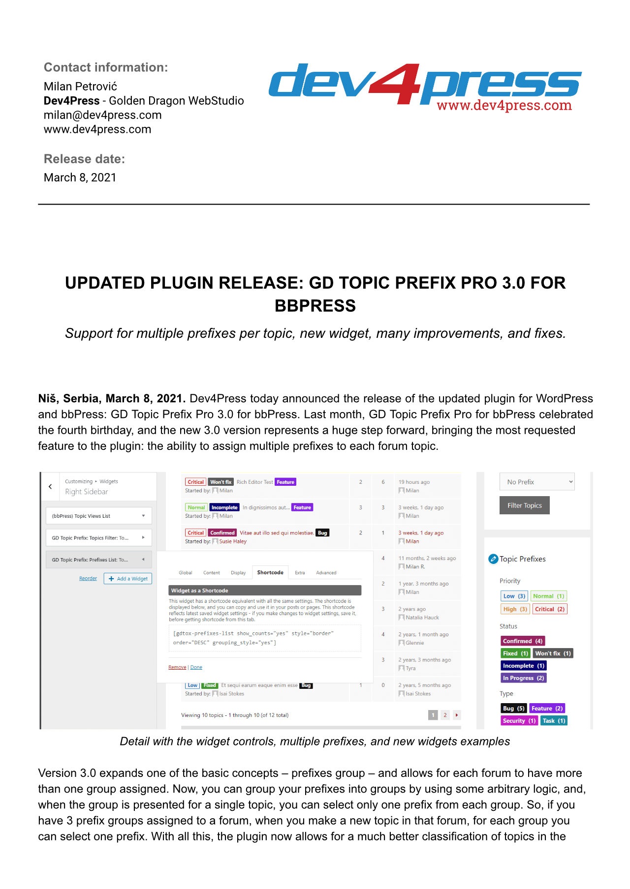 Featured image for: Updated Plugin Release: GD Topic Prefix Pro 3.0 for bbPress