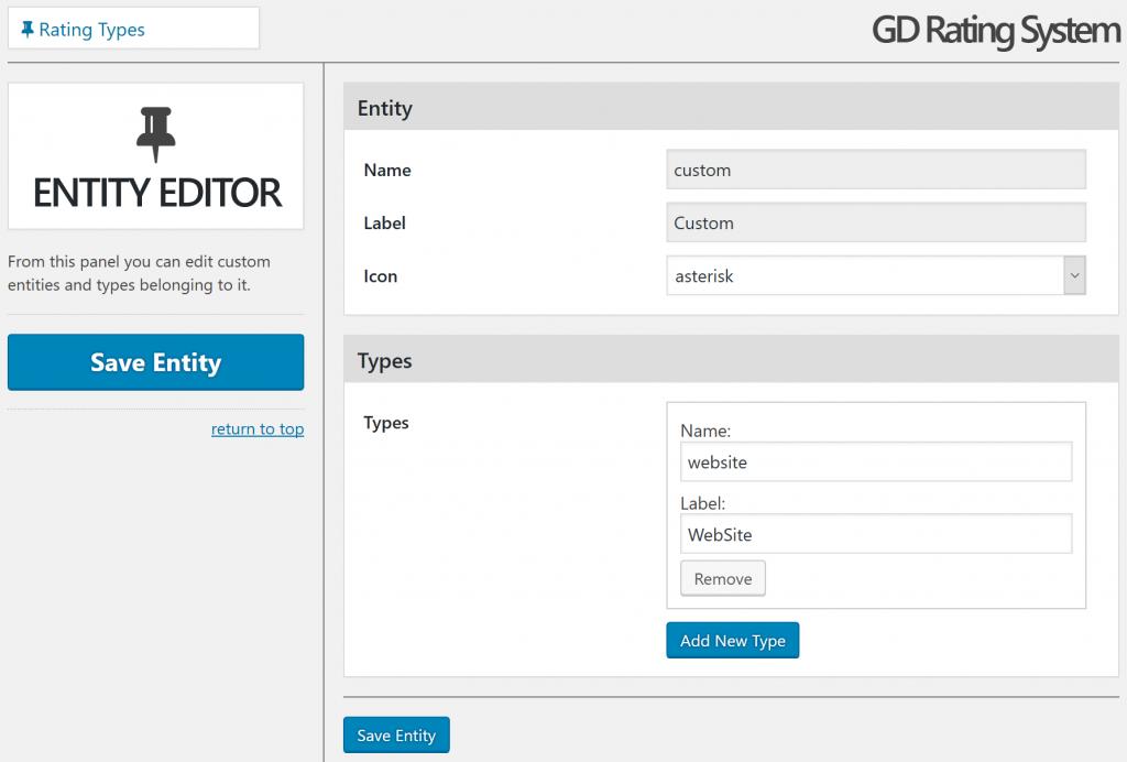 Adding Website rating type