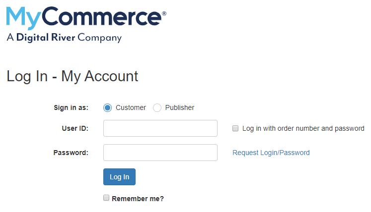 MyCommerce/ShareIt Log In