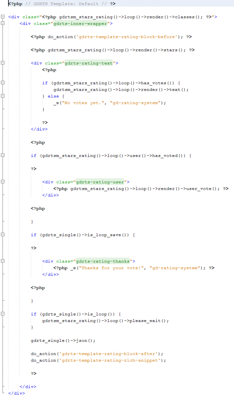 Template Example Code