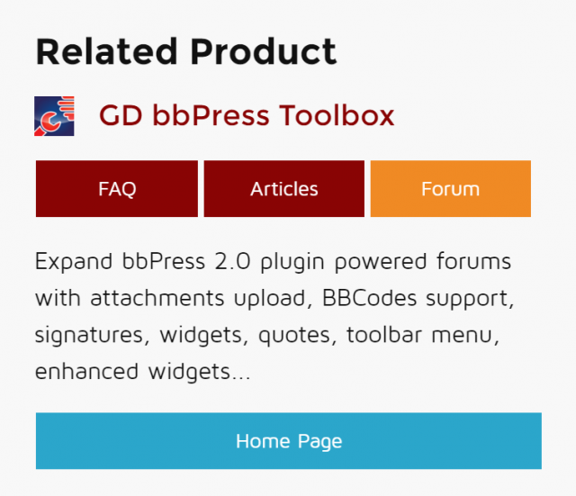 Related product widget