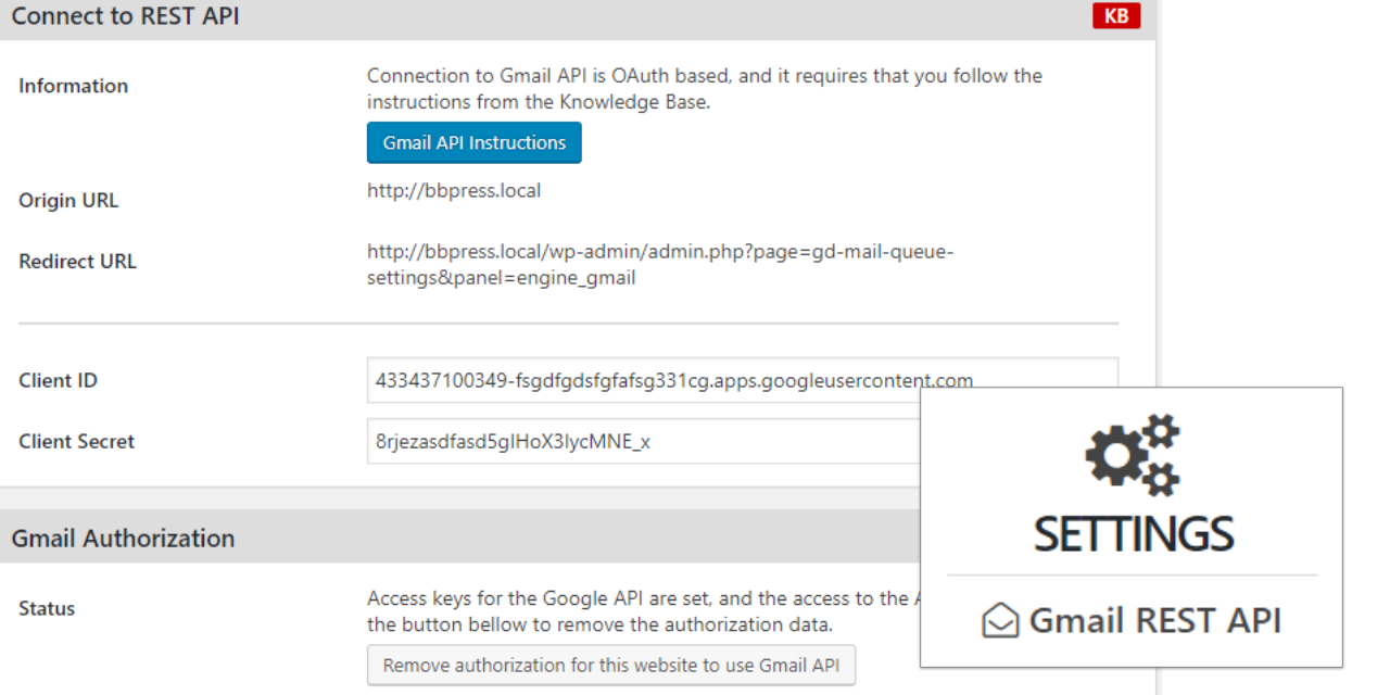 Image for 'Gmail REST API Addon'