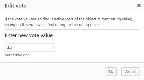 Vote editing dialog